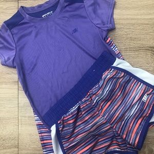 Skechers Active 2 pcSet T Shirt Shorts Girls 10/12